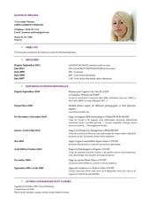 Fichier PDF microsoft word cv 2012