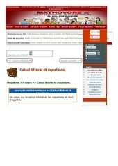 www mathovore fr calcul litteral et equations cours maths 294