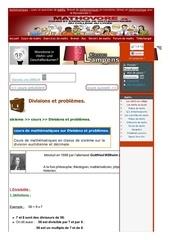 www mathovore fr divisions et problemes cours maths 45
