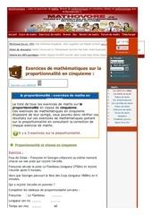 www mathovore fr la proportionnalite exercices mathematiques cinquieme 9