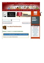 www mathovore fr le calcul fractionnaire cours maths 287
