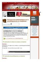 www mathovore fr le parallelogramme exercices mathematiques cinquieme 8