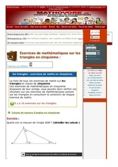 www mathovore fr les triangles exercices mathematiques cinquieme 4