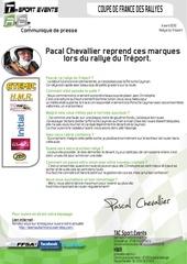 communique de presse tac pascal chevallier reprend ces marques lors du rallye du treport 2012