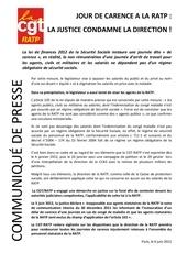 communique presse journee de carence 06 06 2012 1