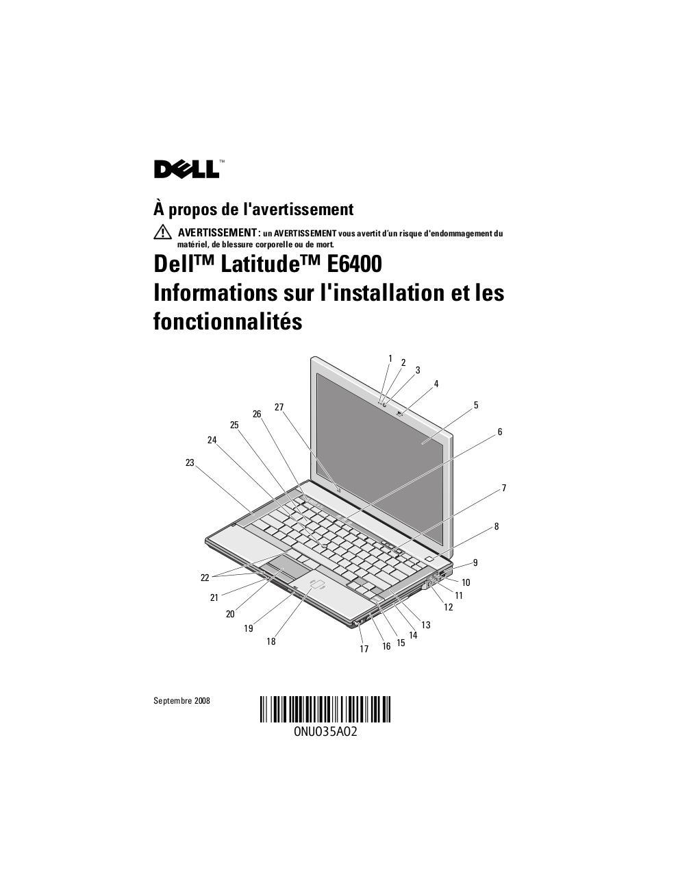 Pdf Fiche PRESENTATION DELL LATITUDE E 6400 par Dell  - Fichier PDF