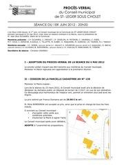 Fichier PDF proces verbal de seance