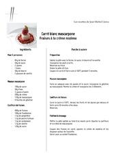 carre blanc mascarpone