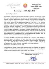 communique du sirt 8 juin 2012
