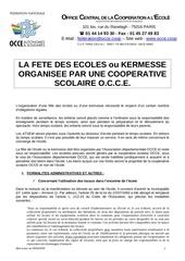 droit organisation fete des ecoles coop sco