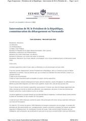 texte discours fhollande 6 juin 2012