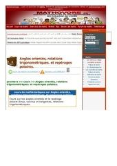 www mathovore fr angles orientes relations trigonometriques et reperages polaires cours maths 311