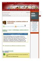 www mathovore fr arithmetique nombres entiers et rationnels cours maths 24