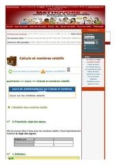 www mathovore fr calculs et nombres relatifs cours maths 37