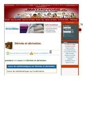www mathovore fr derivee et derivation cours maths 313