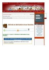 www mathovore fr derivee et derivation d une fonction cours maths 322