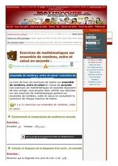 www mathovore fr ensemble de nombres ordre et calcul exercices mathematiques seconde 1