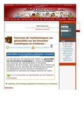 www mathovore fr generalites sur les fonctions numeriques exercices mathematiques troisieme 4