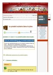www mathovore fr le produit scalaire dans le plan cours maths 53