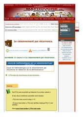 www mathovore fr le raisonnement par recurrence cours maths 23