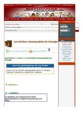 www mathovore fr les droites remarquables du triangle cours maths 36