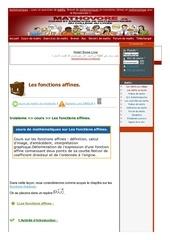 www mathovore fr les fonctions affines cours maths 27