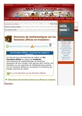 www mathovore fr les fonctions affines exercices mathematiques troisieme 10