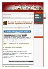 www mathovore fr les fonctions logarithmes exercices mathematiques terminale 2