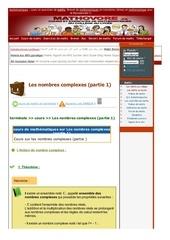 www mathovore fr les nombres complexes partie 1 cours maths 21