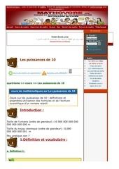 www mathovore fr les puissances de 10 cours maths 38