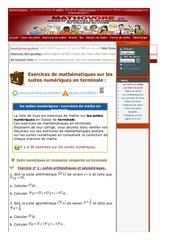www mathovore fr les suites numeriques exercices mathematiques terminale 8