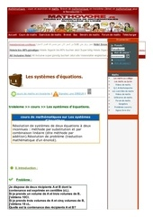 www mathovore fr les systemes d equations cours maths 30