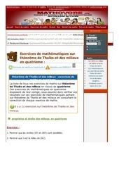 www mathovore fr theoreme de thales et des milieux exercices mathematiques quatrieme 9