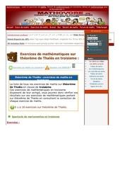 www mathovore fr theoreme de thales exercices mathematiques troisieme 2