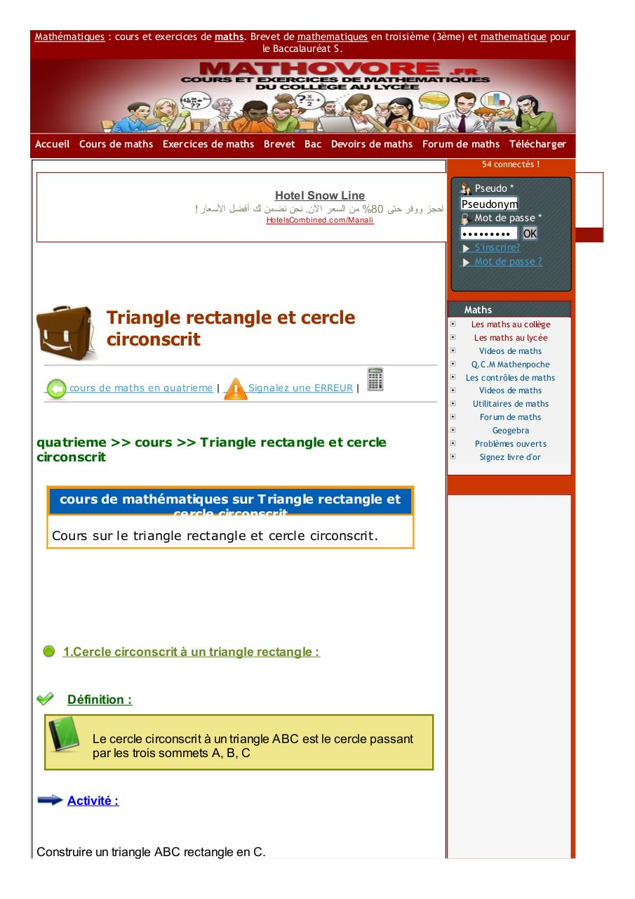www.mathovore.fr-triangle-rectangle-et-cercle-circonscrit-cours-maths-34.pdf - page 1/5