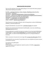 bibliographie philosophie
