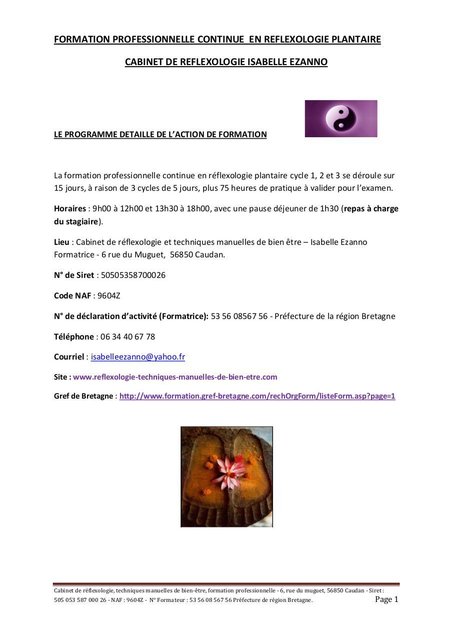 cours de reflexologie plantaire pdf