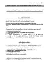 2011 2012 stages a l etranger conditions et procedure