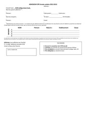 bulletin adhesion fcpe annee scolaire 2012 3