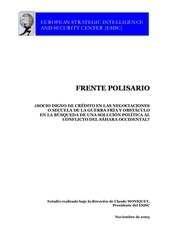 informe del european strategic intelligence and security center sobre el polisario