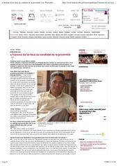 l homme de loi face au candidat de la proximite les nouvelles de tahiti