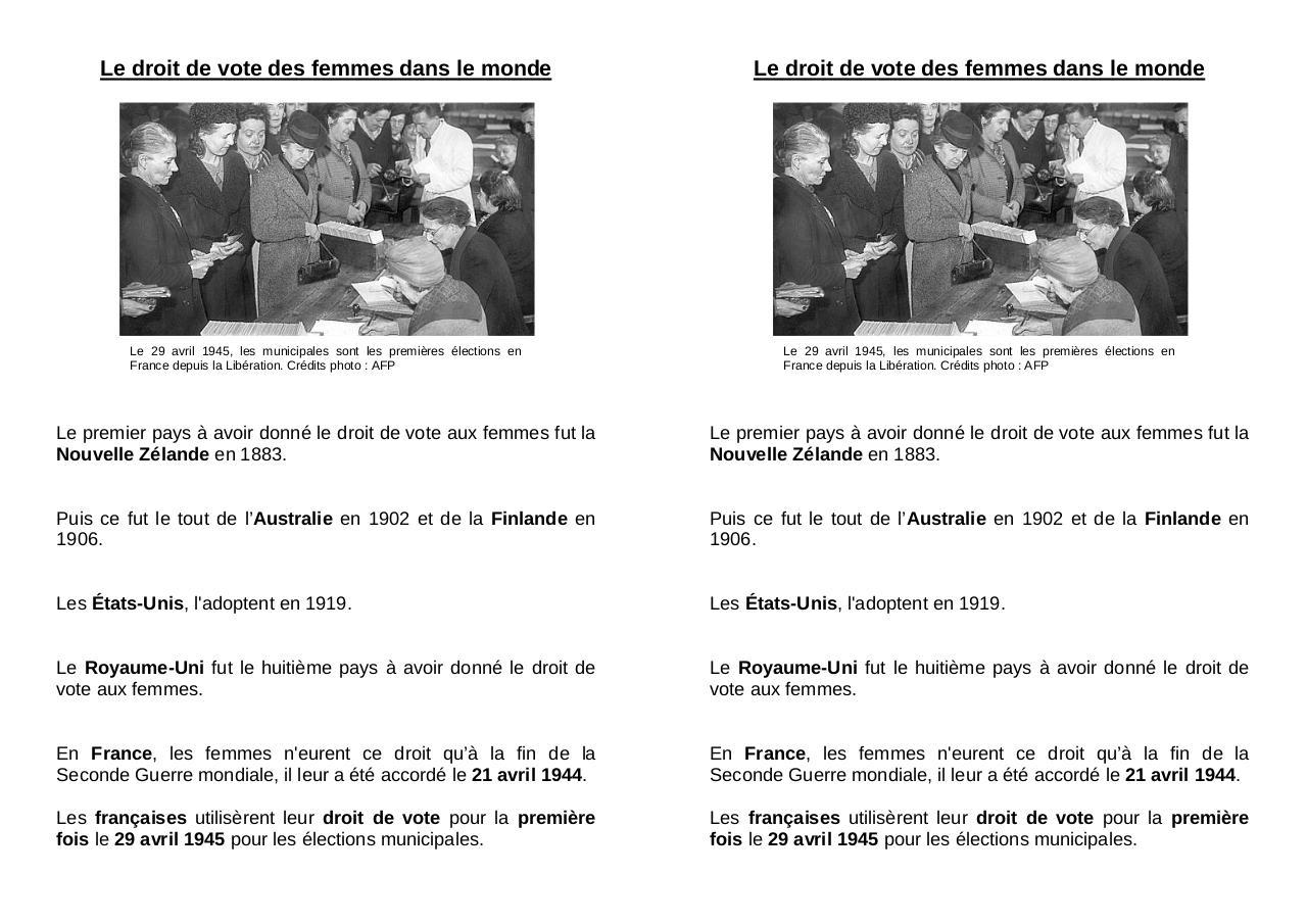 le droit de vote des femmes dans le par sabrina fichier pdf. Black Bedroom Furniture Sets. Home Design Ideas