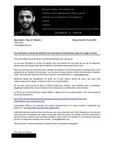 lettre aux associations football suisse