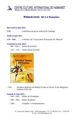 Fichier PDF programme de la 2eme semaine juin