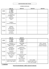 grille horaire 2012