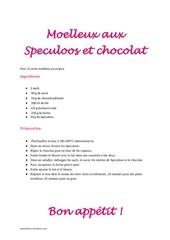 Fichier PDF moelleux aux speculoos et chocolat
