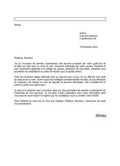 lettre de motiv