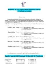 programme de pre reprise 2012