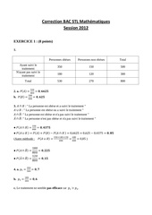 corrige bac stl mathematiques 2012 stlbio