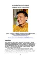 decouvrir votre potentiel creatif tenzin wangyal rinpoche